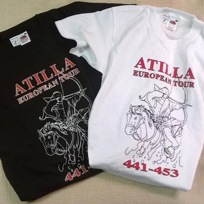 Atilla Europian Tour feliratú póló