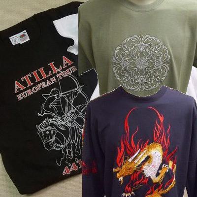 hímzett és egyéb szitanyomású pólók