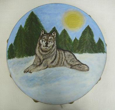 festett táltosdob farkassall