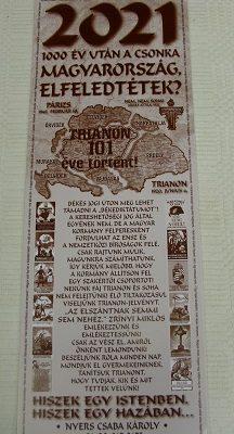 falinaptár 2021 Trianon 101