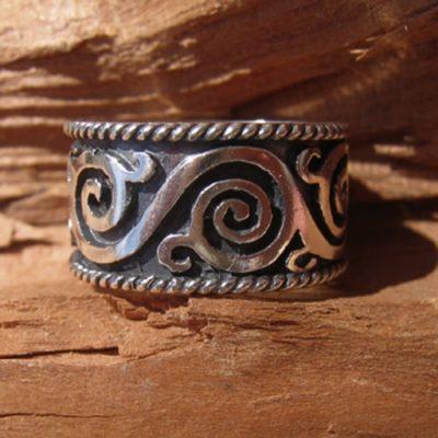 nagy indás ezüst gyűrű