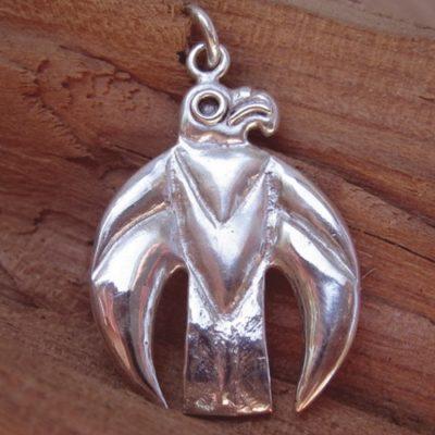 szkíta sólyom ezüst medál