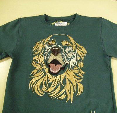 kutyás hímzett gyermek póló