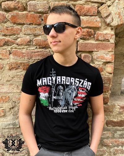 Magyarország ezer éve harcos póló